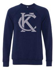 KC Logo Crew Neck Triblend Sweatshirt