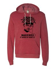 Mahomes Where My Heart is Hoodie
