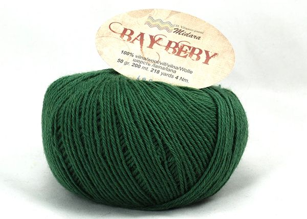 baby soft forest green fingering wool yarn bay beby high quality