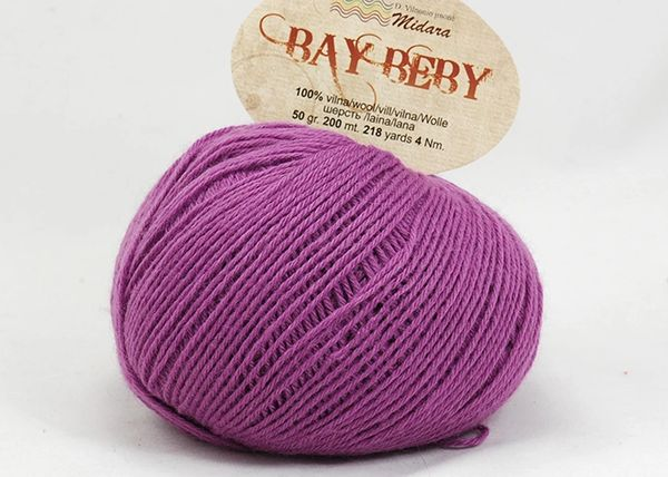 baby soft wool fingering weight purple yarn bay beby high quality