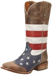 Men's American Flag Western Boot