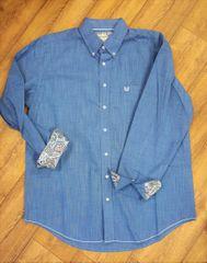 Men's Panhandle Blue Button Up