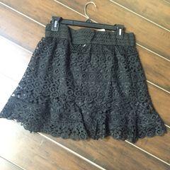 Blu Pepper black lace skirt