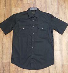Roper Black Snap Short Sleeve