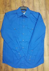 Roper Blue Snap Long Sleeve