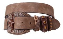 Ladies Brown Leather Belt
