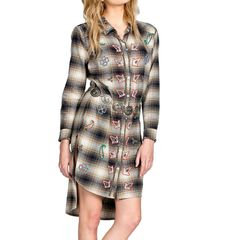 Miss Me Plaid Dress/shirt