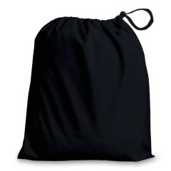 Poly-Cotton Drawstring Bags in 8 useful sizes and 23 colours, matching fabric drawstrings + machine washable. BLACK 20cm x 24cm