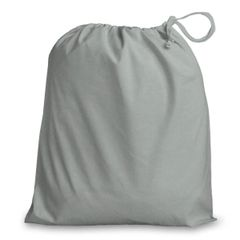 Drawstring Bags in Polycotton 6cm x 9cm Light Grey, matching fabric drawstring closure, 46 colours plus 9 sizes, FREE UK POSTAGE on orders over £5.00