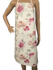 Adults ''Rose & Flora'' design. 'Easy Wipe Clean' pvc aprons, full size traditional bib aprons, FREE UK POST AND PACKING