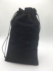 Velvet (cotton) Black Drawstring Bags 25cm x 35cm, Choice of 4 sizes and 8 colours, suitable as Favor Bags, Gift Bags, Party Bags, Jewelry and many other uses. FREE UK POSTAGE