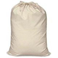 Canvas type Heavyweight Drawstring Bag, Size 60cm x 76cm, rope type drawstring, hanging hoop. NATURAL