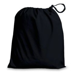 Poly-Cotton Drawstring Bags in 8 useful sizes and 23 colours, matching fabric drawstrings + machine washable. BLACK 15cm x 20cm