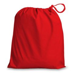 Drawstring Bags in Polycotton 38cm x 43cm Red, matching fabric drawstring closure, 46 colours plus 9 sizes, FREE UK POSTAGE on orders over £5.00