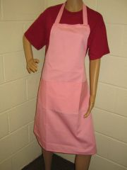 Plain Traditional Style EMBROIDERED (up to 21 letters/spaces) Aprons in Adult, Pink all have pockets, Choice of colour, Adults all '1 size', FREE UK POST on orders over £5.00