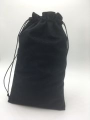 Velvet (cotton) Black Drawstring Bags 15cm x 24cm, Choice of 4 sizes and 8 colours, suitable as Favor Bags, Gift Bags, Party Bags, Jewelry and many other uses. FREE UK POSTAGE