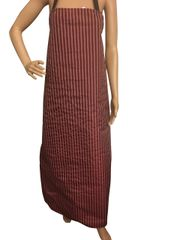 Waterproof Aprons, Burgundy/White Stripe, One Size Fits All, P/U Coated, FREE UK POSTAGE
