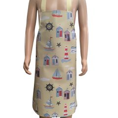 Children's 4-6 year old PVC 'easy wipe clean aprons, SEASIDE BEACH HUT