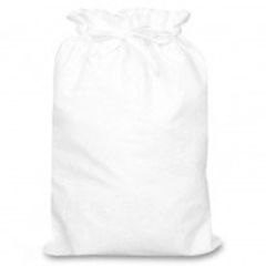 Cotton Shoe Bags, choice of 3 sizes, WHITE