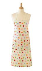 Cooksmart 'Spots' Cotton Apron with pocket, £5.49 each FREE UK POSTAGE, Discontinued Line