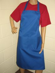 Plain Traditional Style Aprons in Adult Royal Blue all have pockets, Choice of colour, Adults all '1 size', FREE UK POST on orders over £5.00