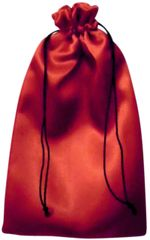 Satin Drawstring Bags in Red with Black Cord Closure, 25cm x 35cm, FREE UK POSTAGE orders over £5.00
