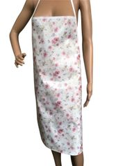 Adult ''Dainty Flowers'' design. 'Easy Wipe Clean' pvc aprons, full size traditional bib aprons, FREE UK POST AND PACKING