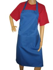 Adults Full Size Aprons With Large Pocket, ROYAL BLUE