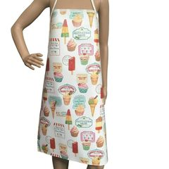 Children's 'Ice Cream' Easy Wipe Clean PVC aprons, 4-6 year old, FREE UK POSTAGE