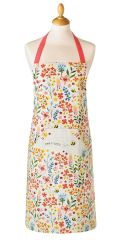 Cooksmart 'Bee Happy' Cotton Apron with pocket, £5.49 each FREE UK POSTAGE, Discontinued Line