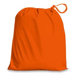 Drawstring Bags in Polycotton 42cm x 48cm Orange, matching fabric drawstring closure, 46 colours plus 9 sizes, FREE UK POSTAGE on orders over £5.00