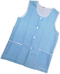 Tabards-Button Thro Overall, (Elaine) in 100% polyester Size 24-26/XXXOS Light Blue Gingham pattern, with White Trim, 2 pockets, choice of colour and size, FREE UK POST AND PACKING, Only £5.99 each,