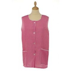 Tabards with large twin pockets and button thro front fastening, 100% Polyester for excellent wear and wash-ability, Offered in 6 pleasing Gingham pattern colours and 6 sizes.. MID BLUE Size XOS 20-22