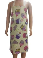 Children's 7-10 year old PVC 'easy wipe clean aprons, CUPCAKES