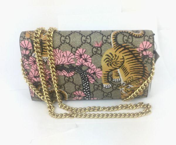 fabdf83d254a9 Gucci Bengal Tiger GG Supreme Crossbody Wallet