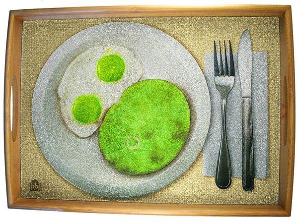 Green Eggs Ham Serving Tray