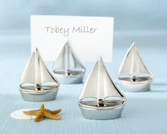 """Shining Sails"" Silver Place Card Holders (Set of 4)"