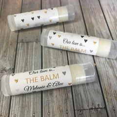 Personalised Lip Balm - Our love is the balm