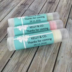 Personalised Lip Balms - Tiffany Theme