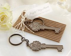 """Key to My Heart"" Antiqe keychain - Set of 12"