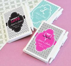 Personalised Notebook Favours - Wedding Theme