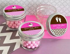 Personalised Baby Shower Small 4 oz Mason Jars