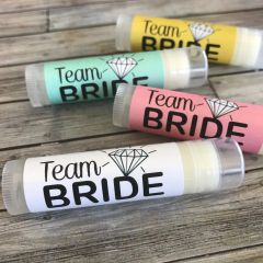 """""""Team Bride"""" Lip Balms Favours"""
