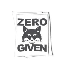 zero fox given sticker