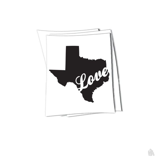 Texas love sticker