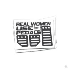 Real women use 3 pedals sticker