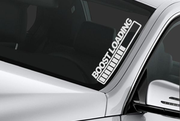 boost loading windshield banner sticker