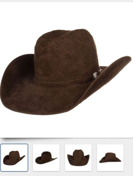 AMERICAN HAT COMPANY 20X GRIZZLY OPEN CROWN FELT HAT