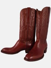 VAQUERO STYLE CORDOVAN SHELL WITH SPANISH CALF WHISKEY TOP