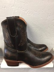 Ladies Tanner Mark County Line Dark Walnut Shorty Boot. TML201394